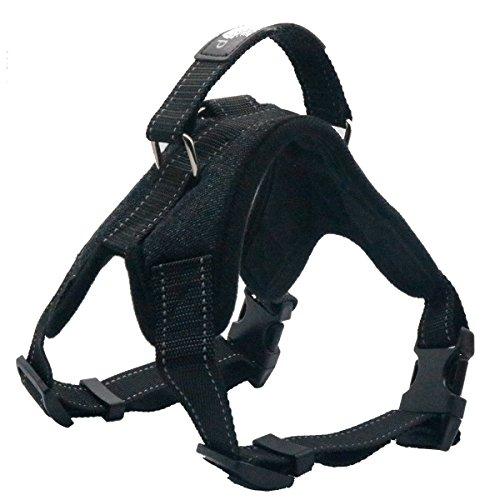 Dog Harness - Durable Canvas Outdoor Back Leash Handle No Pull Non Choke Adjustable Vest Reflective Threads For Heavy Duty XLarge Dog Alaskan Malamute Labrador Golden Retriever