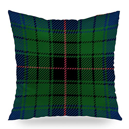 - Moslion Decorative Throw Pillows Clan Davidson Scottish Tartan Plaid Patte Pillow Cover Satin Square Pillow Case Cushion Cover Home Decor for Sofa Bed 18x18 Inch