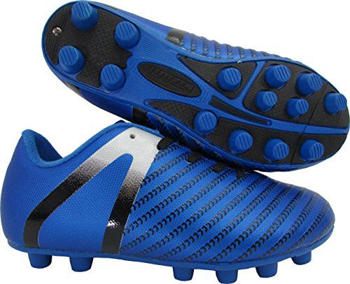 Vizari Unisex Impact FG Soccer Shoe, Blue/Silver, 3 Regular US Little Kid