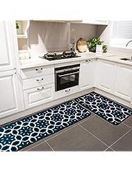 Amazon Com Blue Kitchen Rugs Kitchen Table Linens Home Kitchen