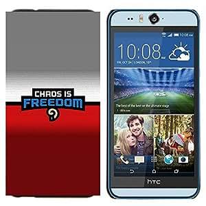 TECHCASE---Cubierta de la caja de protección para la piel dura ** HTC Desire Eye ( M910x ) ** --Caos es la libertad