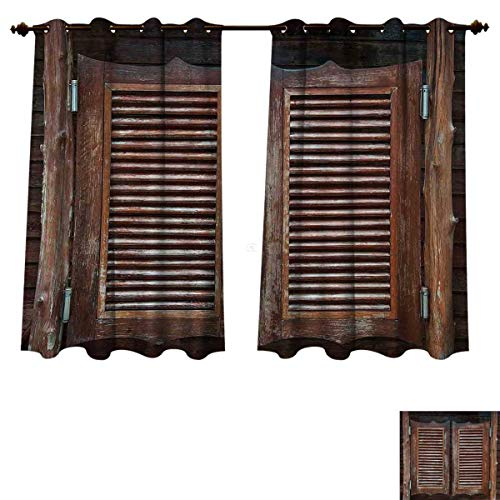 RuppertTextile Western Blackout Thermal Curtain Panel Antique Style