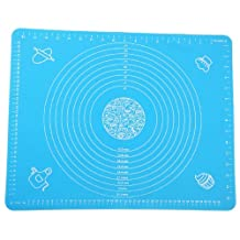 ZNU Large Massive Pastry Fondant Silicone Work Rolling Baking Mat with Measurements