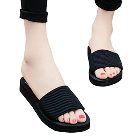 Women Fashion Sandal Summer Slipper Indoor Outdoor Flip-flops Wedges Beach Shoes For Ladies