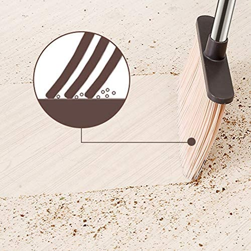 Plastic Broom and Dust Pan Set Foldable Sweeping Household Cleaning Kit Tool Can Rotate Soft Hair Dust-Free Scraper Broom