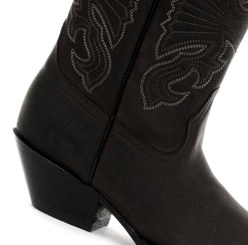 Grinders Buffalo negro–Botas de vaquero