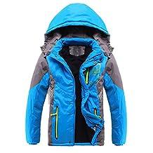 Liangpin Boys Hooded Insulated Winter Jacket Ski Snow Sportswear Age 6-16 Yrs