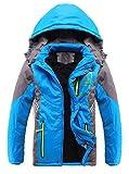 Liangpin Boy Winter Snow Ski Jacket Coat Waterproof Fleece Lining Inside Blue 10