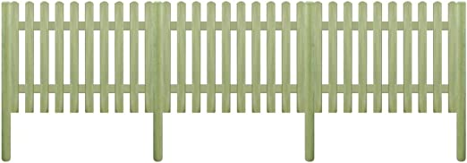 tiauant Bricolaje Vallas de jardín Paneles de Vallas Valla de Madera con Postes de Pino impregnado 5,1m 170cm 6/9cm vallasAncho del Liston: 9 cm: Amazon.es: Jardín