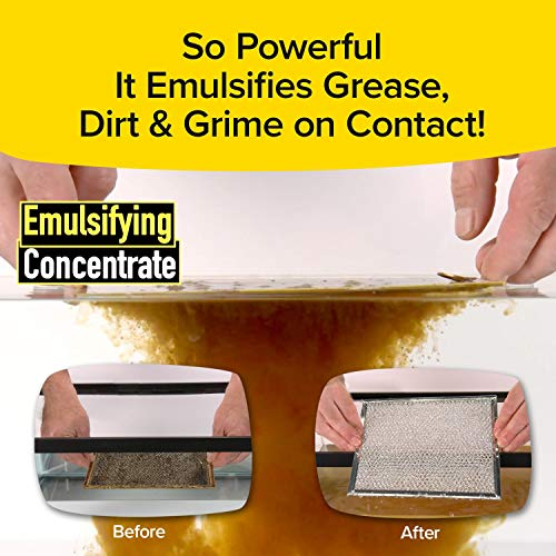 Grease Police Magic Degreaser by BulbHead - Super-Concentrated Degreaser and Cleaner Spray For Kitchen, Bathroom, and More - Emulsifies Grease & Grime on Contact, No Hard Work