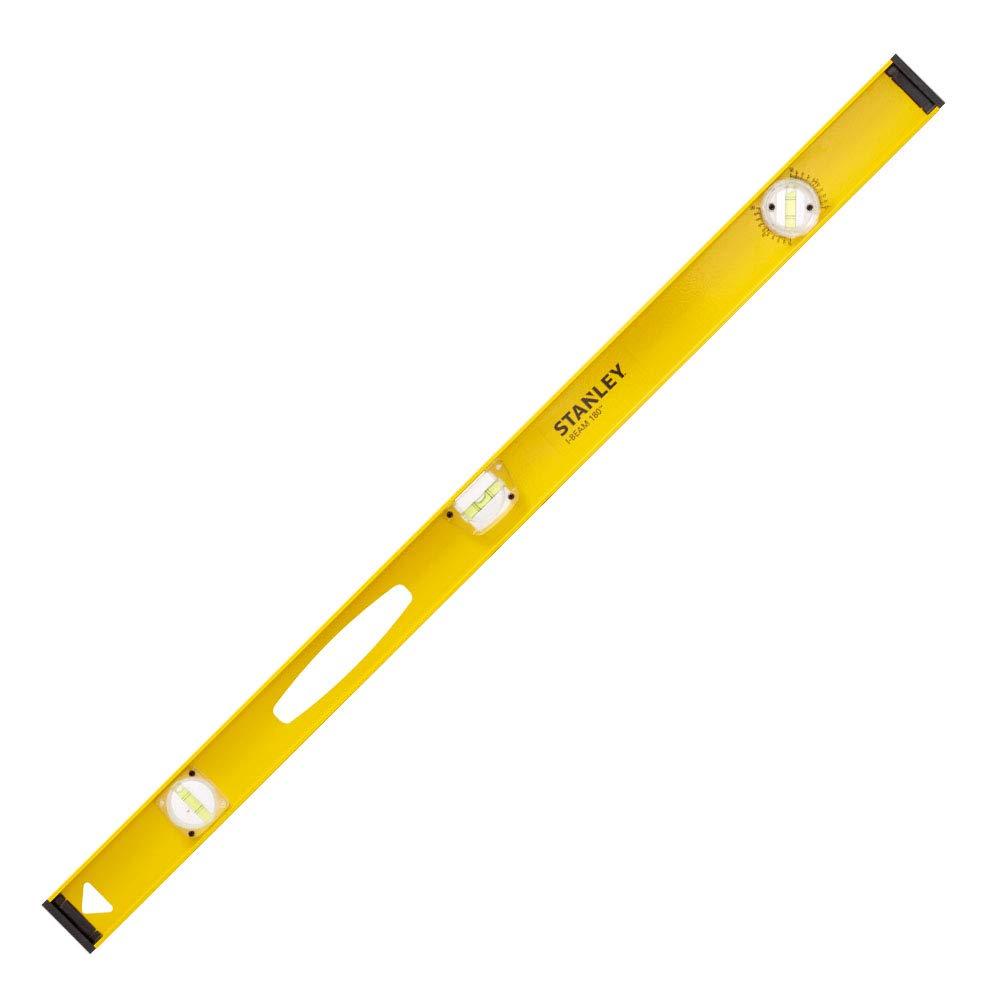 Stanley I-Beam 180° Wasserwaage (Lineal, 40 cm Länge, Aluminium, horizontale/justierbare Libelle)1-42-919 BLAMT