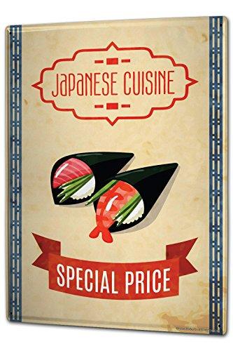 Tin Sign XXL metal plate plaque Food Restaurant japanese cuisine
