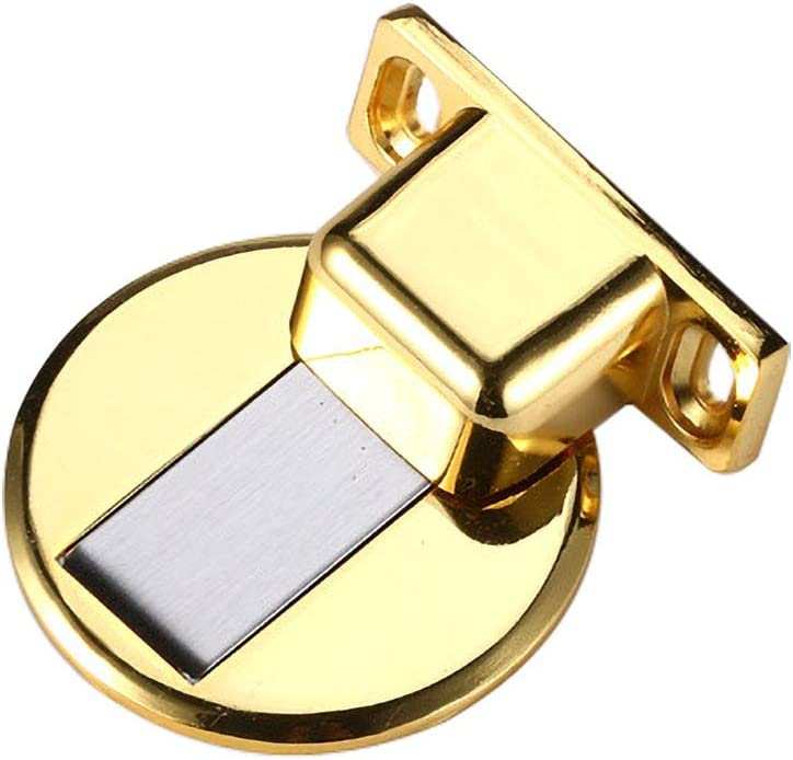 E Invisible Magnetic Door Stopper Floor Mount Magnets Door Holder Wall Protector with Screw Mount Magnetic Door Stop Catch Holder Office Heavy Duty No Drilling Zinc Alloy Doorstop for Home