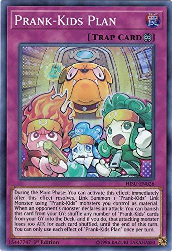 Yu-Gi-Oh! Singles - Prank-Kids Plan - HISU-EN026 - Super Rare - 1st Edition - Hidden Summoners