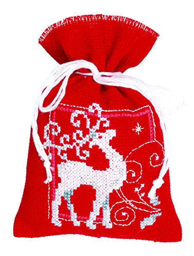 Vervaco Reindeer & Crystals Sachets Counted Cross-Stitch Kit