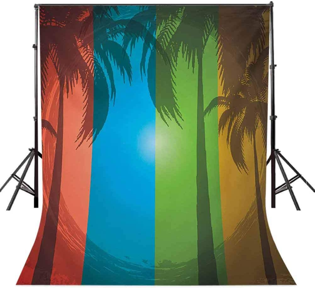 Ocean 8x10 FT Photography Backdrop Sunrise on Waves Surfer Perspective Surreal Coastal Charm Sports Lifestyle Scene Background for Photography Kids Adult Photo Booth Video Shoot Vinyl Studio Props