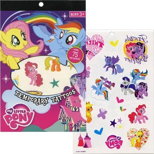 My Little Pony Temporary Tattoos - 75pc -  MLP