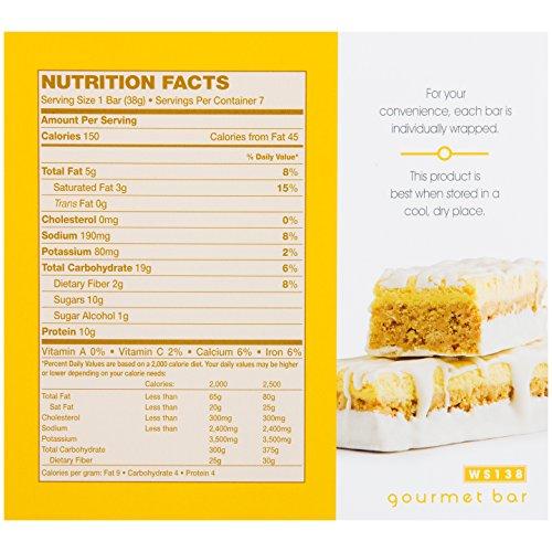 WonderSlim Gourmet 10g Protein Diet Bar - Zesty Lemon (7 Servings/Box)