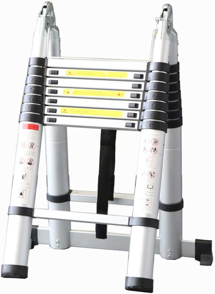 LJSJT Escalera Telescópica Marco de aleación de Aluminio Plegable Estiramiento Libre Escalera Tipo A Peso del rodamiento 150kg (Tamaño : 2.2+2.2m): Amazon.es: Hogar