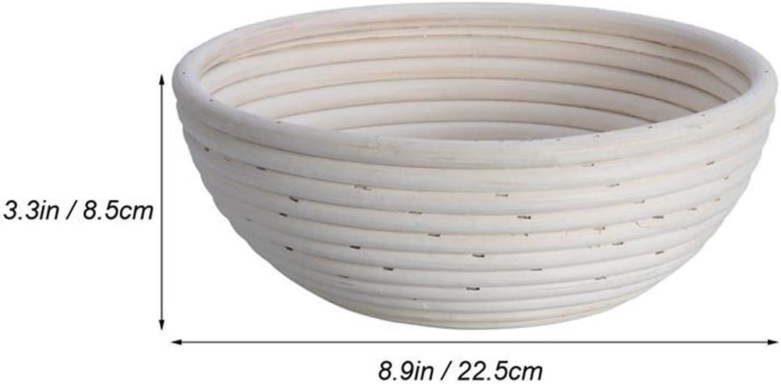 Die ideale Brotg/ärform aus nat/ürlichem Peddigrohr H/öhe 8.5 cm inkl Dekorationsger/ät Teigschaberkarte Xloves 23 cm Liner