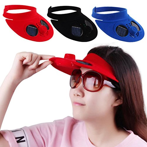 Outdoor Hat Cap with Solar Sun Power Cool Fan for Cycling (A) ()
