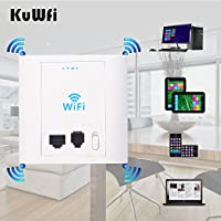 KuWFi In Wall Wireless AP router 300Mbps in wall AP Wireless Access Point with 802.3af PoE and Access control system