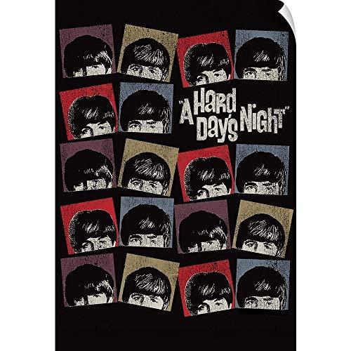 CANVAS ON DEMAND The Beatles - A Hard Day's Night Wall Peel Art Print, 20