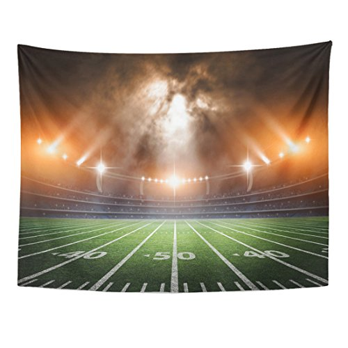 Breezat Tapestry Football American Soccer Stadium 3D Rendering Field Home Decor Wall Hanging for Living Room Bedroom Dorm 60x80 Inches by Breezat