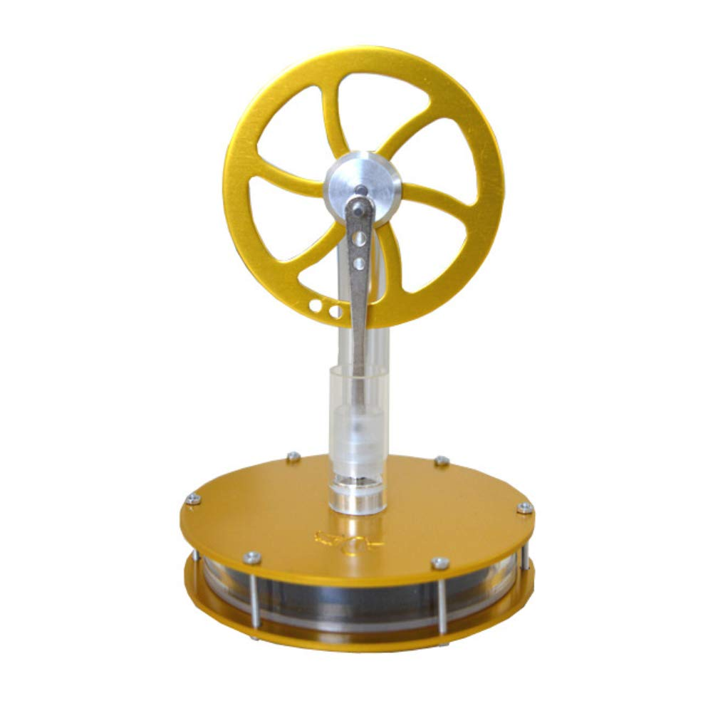 At27clekca QX-DWCL-02 Low Temperature Stirling Engine Motor Model Heat Steam Children Science Educational Toy Electricity Generator Colorful LED Yellow