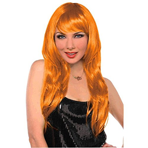 (Orange Glamourous Party Wig Costume)