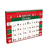 Manaror Advent Calendar,DIY Bracelet Necklace Set with 24 Charms Fashion Jewelry Countdown Christmas Theme Gifts for Kids