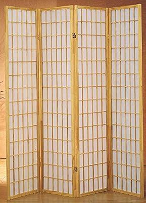 Milton Verdes Estrellas 7033 NA 4-Panel Dean habitación Separador, Natural: Amazon.es: Hogar