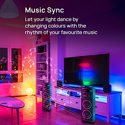 Wipro 12.5-Watt B22 Wi-Fi Smart LED Bulb with Music Sync (16 Million Colors + Warm White/Neutral White/White) (Compatible with Amazon Alexa and... 5