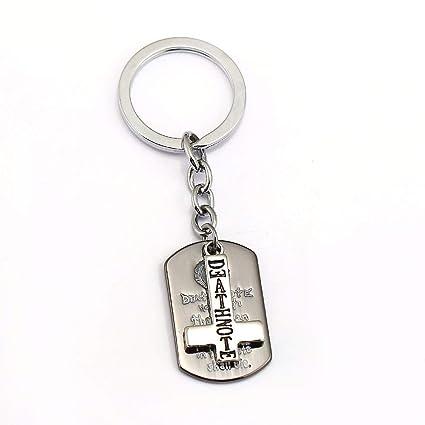 Death Note Llavero de Metal Dog Tag Logo & Cruz: Amazon.es ...