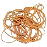 Ship Now Supply SNBAN410 Rubber Bands, 1/16'' x 3'', 10 Lbs., 0.063'' width, 3'' Length, Brown (Pack of 16000)