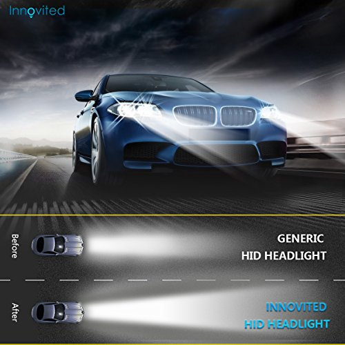 Innovited 55W Performance Xenon HID LightsAll Bulb Sizes and Colors with Digital Ballast H7-8000K Ice Blue 2 Year Warranty