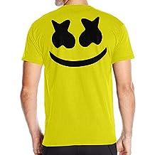 Fantastic Cute Marshmello Face Short T Shirt Mens Back Graphic