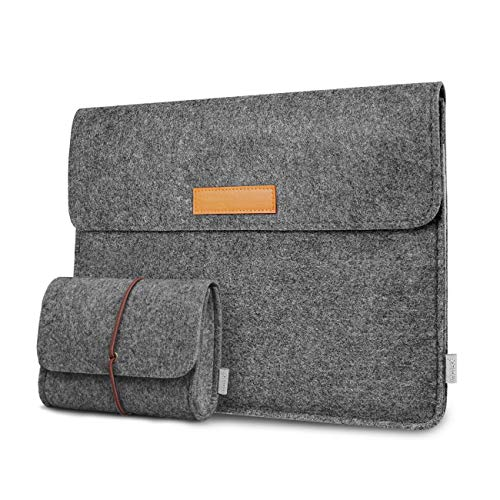 (Inateck Laptop Sleeve Case Bag Compatible with 15 Inch MacBook Pro Touch Bar A1707/A1990(2018/2017/2016) and 14 Inch Laptops/Chromebooks/Notebooks, Dark Gray)