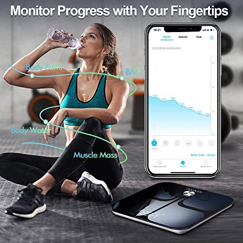 Digital Scale - Wi-Fi Bluetooth Auto - Switch Smart Scale Digital Weight, Body Fat Scale for Weight, 14 Body Composition Monitor with iOS, Android APP, Support Unlimited Users, Auto - Recognition 3