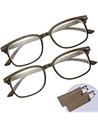 5033daad38 Reading Glasses 2 Pack – Men s and Women s Readers - Plastic Frames- 2  Pouches