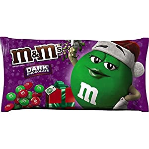 M&M'S Holiday Dark Chocolate Christmas Candy 11.4-Ounce Bag