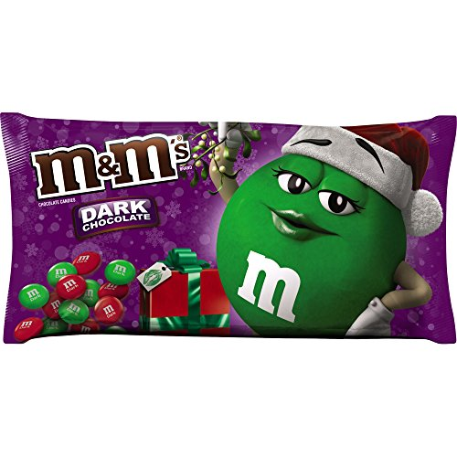 M&M'S Holiday Dark Chocolate Candy 11.4-Ounce Bag -