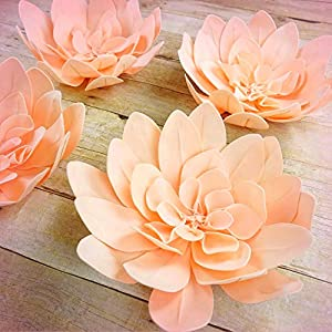 """Inna-Wholesale Art Crafts New 8 pcs 16"""" Blush Artificial Daisy Decorating Flowers for Wall Backdrop Party Craft - Perfect for Any Wedding, Special Occasion or Home Office D?cor 120"""