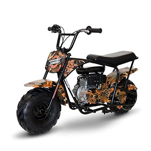 Monster Moto - Gas Mini Bike - 80CC/2.5HP without Suspension (MM-B80-LB)(Black Legends Blaze)