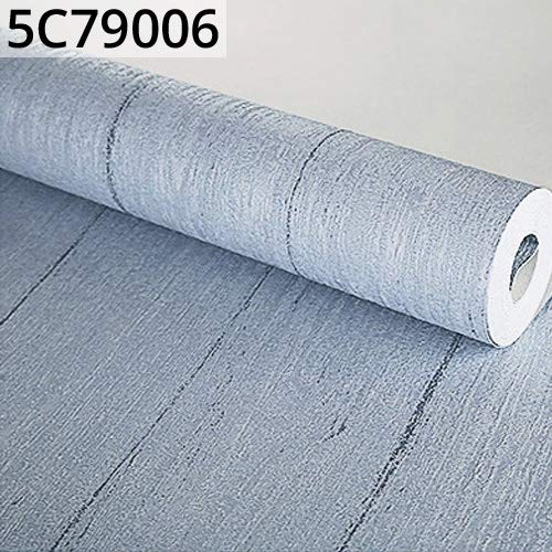Grey Faux Wood Wallpaper Plain Color Rustic Plank Textured Wall Paper Roll Imitation Wood Non-Woven Wallcovering -