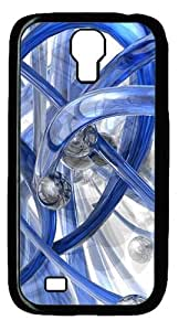 3D Blue Piping Custom Designer Samsung Galaxy S4 SIV I9500 Case Cover - Polycarbonate - Black