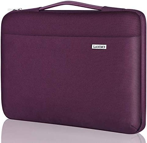 Voova Laptop Sleeve Shoulder Bag Case 14-15.6 Inch Upgrade Protective Computer Carrying Briefcase Compatible with MacBook Pro 16 15,Surface Book 3//2 15,Asus Acer Dell Hp Chromebook with Handle,Purple