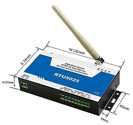 AWT RTU5025 GSM SMS 3G:850/1900 MHz Gate Opener Operator Sliding Garage Door Remote Controller - - Amazon.com