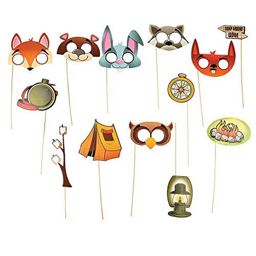 Fun Express - Camping Photo Stick Props - Apparel Accessories - Costume Accessories - Costume Props - 13 Pieces