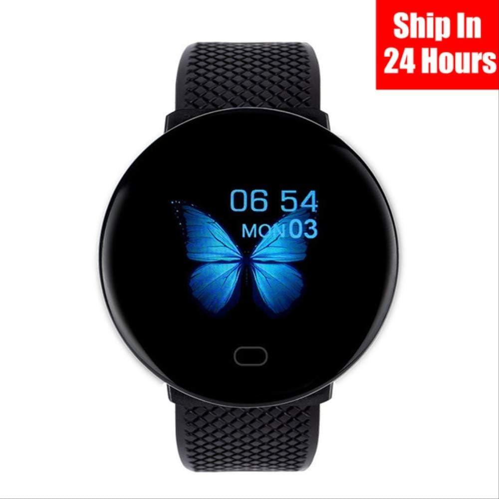 DAJUZI D19 2020 Hombres Smartwatch Sport Podómetro Smart Watch Round Bluetooth Fitness Tracker Presión Arterial Reloj de Mujer para Android iOS